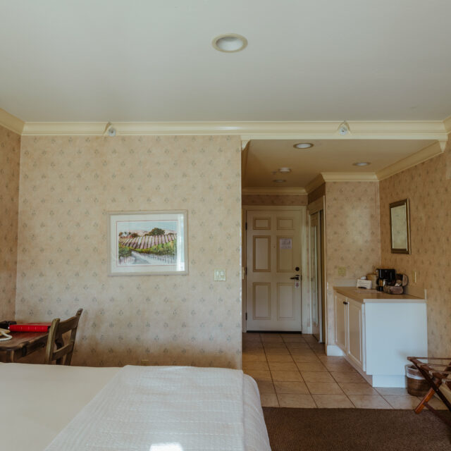 Room 6 Bed and entry door view